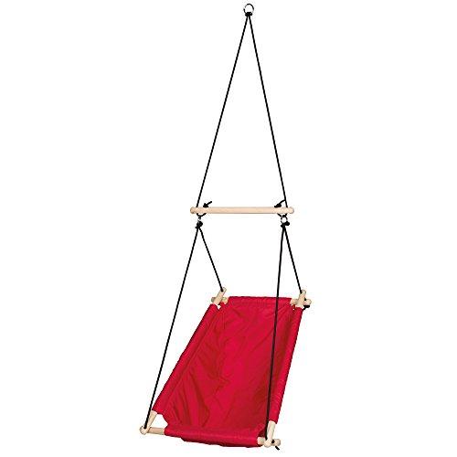roba Hamac rouge, hamac pour bébés et enfants, réglage de l´inclination de l'assise, le hamac peut être utilisé de la naissance à environ 6 ans ou 30 kg.