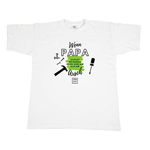 T-Shirt mit Spruch - Wenn Papa es Nicht reparieren kann | Tshirt mit Motiv in Größe S bis XXL | Geschenkidee zum Vatertag/Männertag