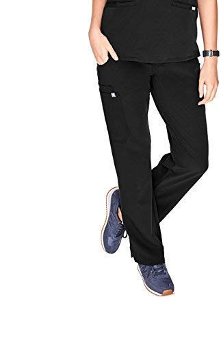 FIGS Kade Cargo Scrub Pants for Women - Black, XS