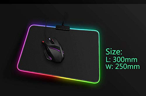 S & E TEACHER'S EDITION Gaming Mouse Pad, Soft LED Light Mouse Pad, Black Premium-Textured Mouse Mat, with 8 Lighting Modes, 10 x 12 Inch, Christmas Photo #2