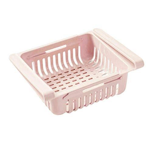 Instelbare organizer voor koelkast en partitie. roze