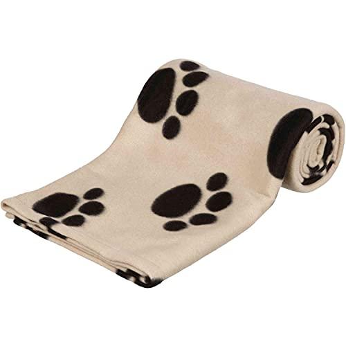 TRIXIE Manta para Perros Mascotas - Manta Sofa Suave Manta para Mascotas Perros Gatos Cálida Protección Manta Barney 150 x 100 cm Negro Beige