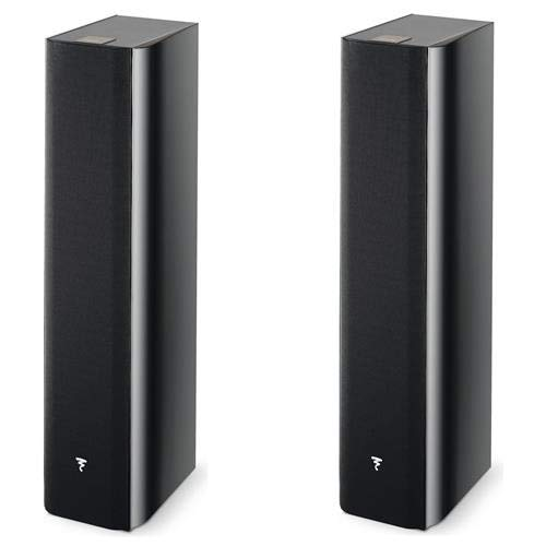 Review Focal 2 Pack Chorus 716 2.5-Way Bass Reflex Floor Standing Speakers, Black Piano Lacquer, Pai...