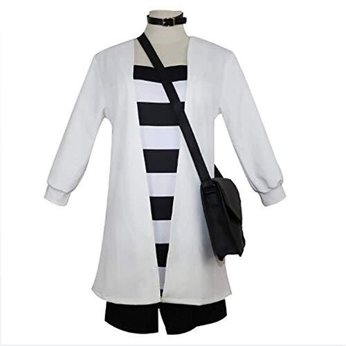 SSYYY Angels of Death Cosplay Kostüm Kleid Anime Kostüm Anzug Party Kostüm Für Erwachsene Kleidung + T-Shirt + Shorts + Schultasche + Kragen Schmuck,M