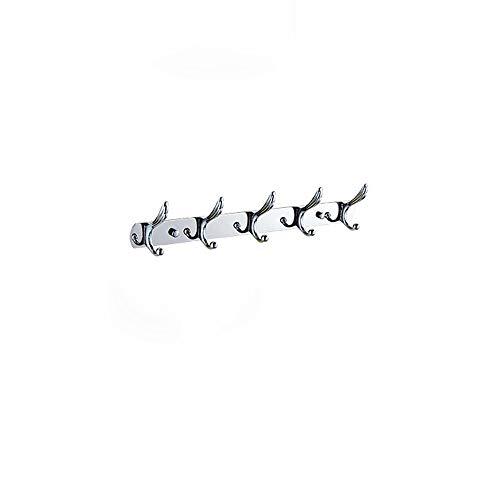 Estilo europeo Percha 304 Acero inoxidable 5 Filas Colgando Gancho de ropa Ropa creativa Gancho Ropa de baño Sólido Grueso Abrigo de pared Gancho Montaje en pared Toalla Abrigo Sombrero Toga de gancho