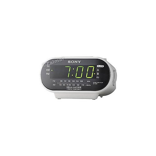 Sony ICF-C318 Dream Machine AM/FM Clock Radio in White