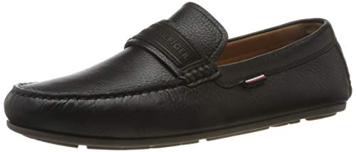 Tommy Hilfiger Mens Andrew 24A Boat Shoe, Black, 41 EU
