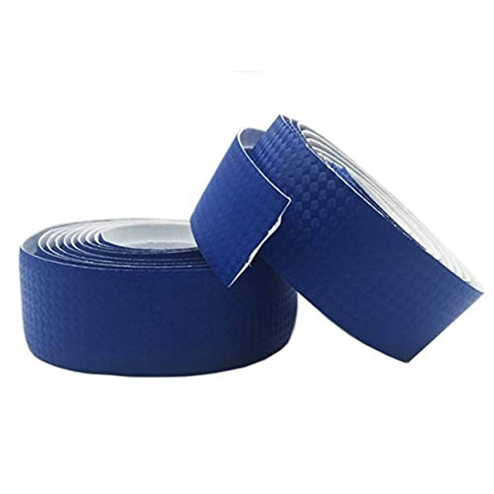 絵不足スプーンPropenary - Bicycle Handlebar Tapes Cycling Road Bike Sports Bike Cork Handlebar Tape 2 Bar Plugs Carbon fiber belts strap Bicycle Parts [ Blue ]
