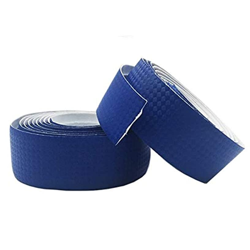 指令規則性湿ったPropenary - Bicycle Handlebar Tapes Cycling Road Bike Sports Bike Cork Handlebar Tape 2 Bar Plugs Carbon fiber belts strap Bicycle Parts [ Blue ]
