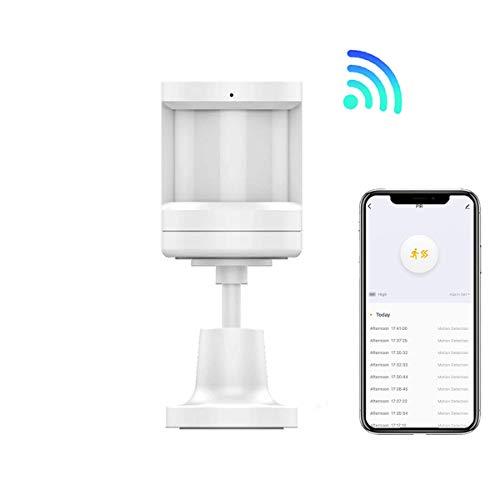 Sensor de Movimiento ZigBee Si Smart, Compatible con Smart Life, Alexa y Google Home. Monitorización las 24 horas. Requiere HUB o puerto de enlace Wifi-Zigbee Si Smart