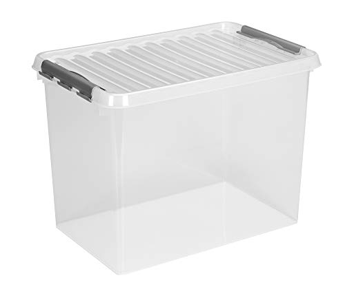 Sunware Q-Line Box–72Liter 600x 400x 420mm–transparent/grau