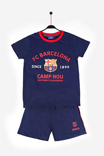 FC Barcelona Pijama Manga Corta Camp NOU para Niño