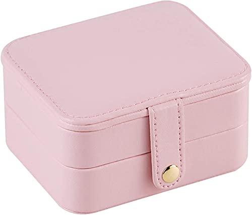 Caja de joyería de WHXL Caja portátil Joyería coreana europea Mini joyería Parril Pulsera Caja de almacenamiento Pequeño y portátil