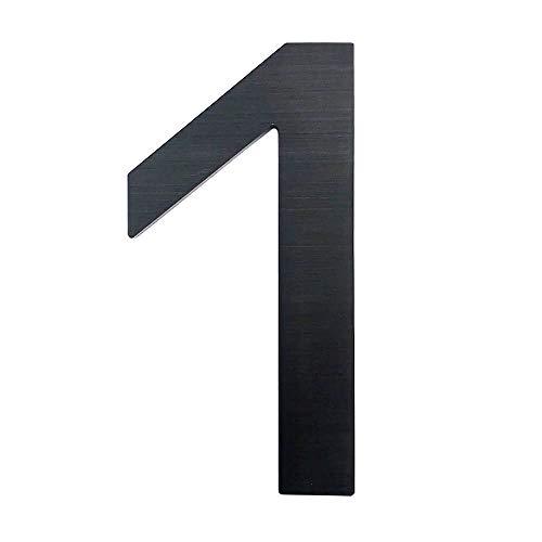 CANDIKO 4 Inch Adhesive Metal House Address Number 1 Black