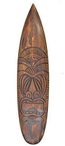 Interlifestyle Tiki Tabla de Surf 100cm Im Hawai Maui Style Tabla de Surf Letrero Isla de Pascua