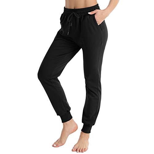 Pantalón Chándal y Deportivo para Mujer Pantalones de Estilo Libre Largo Suelto Elástico para Corredores Pantalón con Bolsillos y Cordón Ajustable para Deporte Yoga Gimnasio