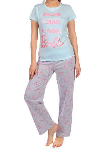 Barbie Damen Schlafanzug Grau Medium