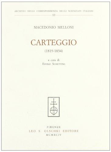 Carteggio (1819-1854)