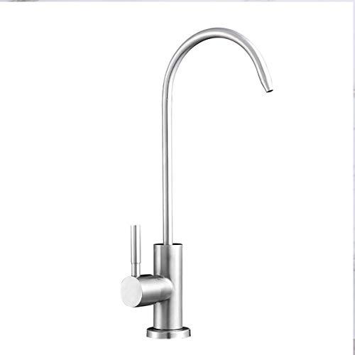 Qrity Edelstahl Wasserhahn Umkehrosmose Schwanenhals Trinkwasserfilter Küchenarmatur mit 360-Grad-Drehgelenk