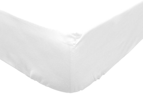 Soleil d'ocre Sábana Bajera Jersey de algodón 90x190 cm Blanca