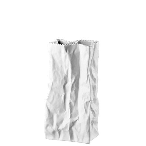Rosenthal - Do not Litter - Tütenvase - Blumenvase - Vase - matt Höhe 22 cm