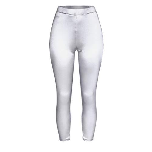 ZBBYMX Vrouwen Leggings Glanzende Hoge Taille Yoga Kleding Elastische Stretch Sport Panty Vrouw Traning Gtym Workout Yoga Broek Zomer