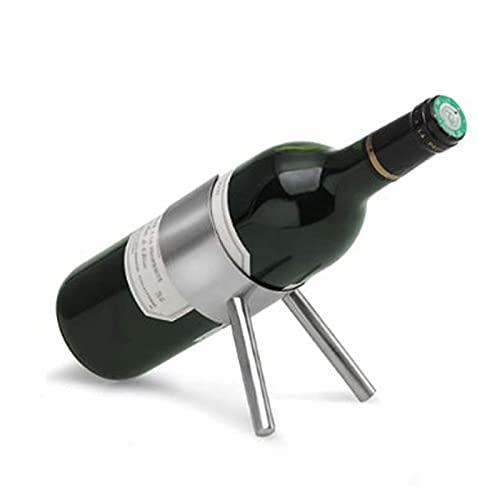 ZHBH Estante para Copas de Vino, pequeño, Moderno, de Acero Inoxidable, para mostrador, Soporte para Botellas de Vino, de pie, para Bar, Cocina, Restaurante, 12,5 x 7,5 x 5 cm