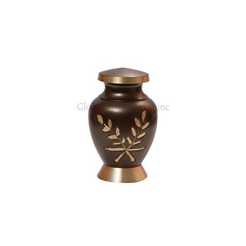 Urne funéraire en laiton, peu coûteux prix Aria blé Urne funéraire en laiton pour animal de compagnie