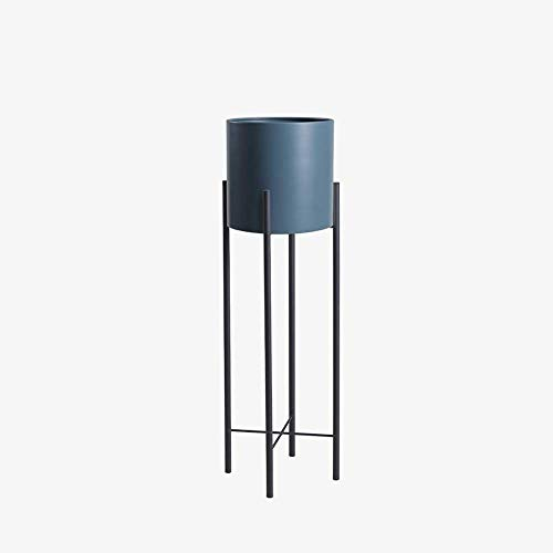 Simple Home Dekoration Pflanze Flower Stand Nordic Schmiedeeisen-Metallblumentopf Rack-Anlage Regal Indoor Wohnzimmer Dekor Topf for Restaurant Hotel Cafe Blumenregal (Farbe: Blau) ANGANG