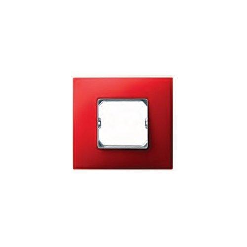 Simon 27771-66 - Placa 1 Elemento (Rojo Mate)