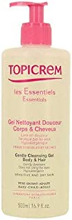 Topicrem Essentials Gentle Cleansing Gel Body And Hair, 500Ml