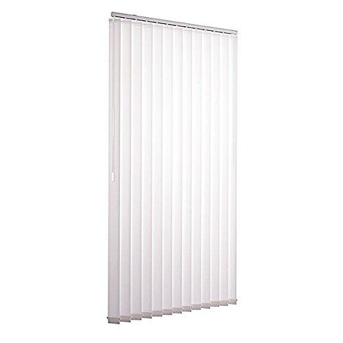 Ventanara Lamellenvorhang weiß Vertikaljalousie 89mm inklusive Montagematerial 100 x 250 cm