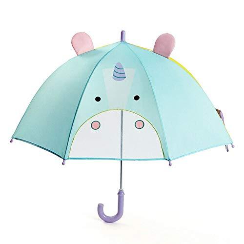 NJSDDB paraplu Nieuwe kinderen paraplu cartoon schattige 3D dier stereo leerlingen creatieve paraplu uil zeven kleuren, Eenhoorn