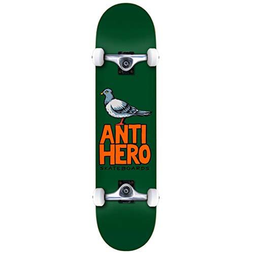 Antihero Pigeon Hero Factory - Skateboard completo, 7,5 cm, colore: Verde