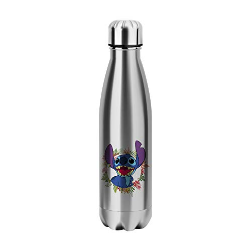 Desconocido Stitch Character Cartoon Alien Water Bottle CO547 Botella de Agua Stainless Steel Funny Insulated 500ml Thermos For Hot and Cold Sports Gym Drink Flask