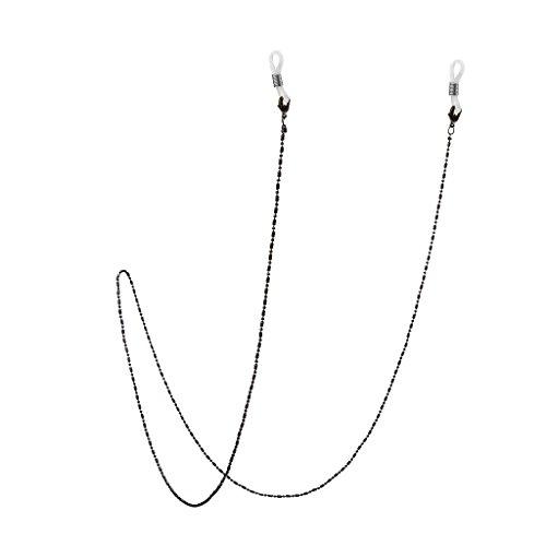 Homyl Cordons à Lunettes Chaîne Perlé Longe Collier Femme Accessoire Bijoux - Noir, 70 cm