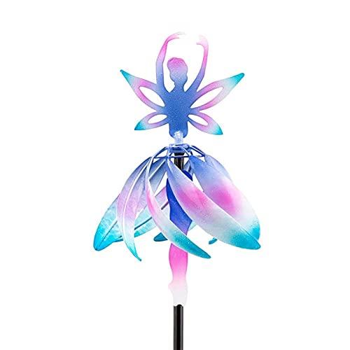 Fairy Ballerina Wind Spinner, Windmühle Garten, Wind Spinner Metall Garten, Balkon Terassendeko, Windrad Kinder WindmüHle Feengarten-Garten-Dekoration - Geschenkidee