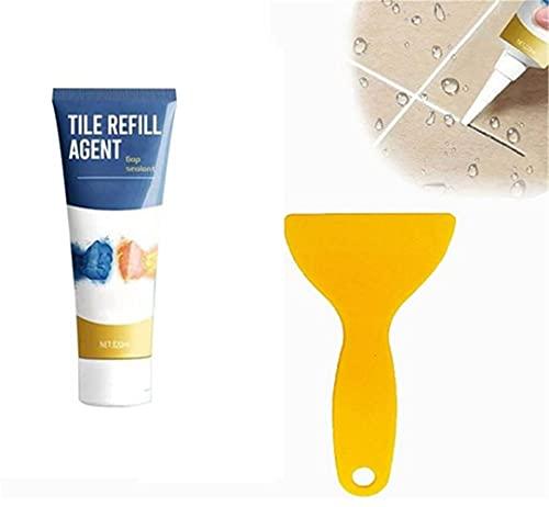 TTCPUYSA Agente restaurador de lechada para baldosas, lechada Impermeable para baldosas y colorante sellador, para baño, Cocina, línea de Piso, reparación rápida (120ml ) (1pcs)