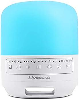 LiviNGPAi White Noise Machine with Adjustable Baby Night Light