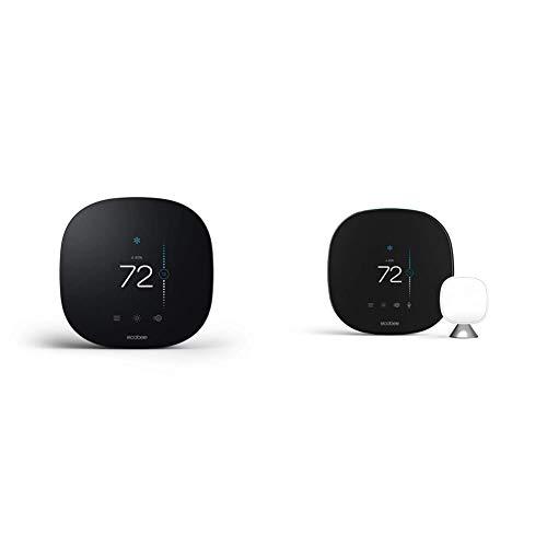 ecobee3 Lite SmartThermostat, Black & ecobee SmartThermostat Smart Thermostat Voice Control, Black