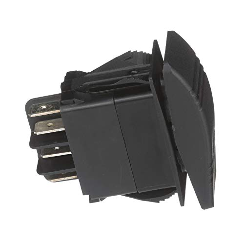 Seachoice 50-12981 Interruptor basculantes contura Off/on Iluminado, Color Negro, 7 terminales