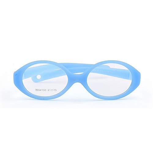 Gafas ópticas para bebés y niños de tamaño 41/15 con correa sin tornillos, gafas de una sola pieza para niños azul