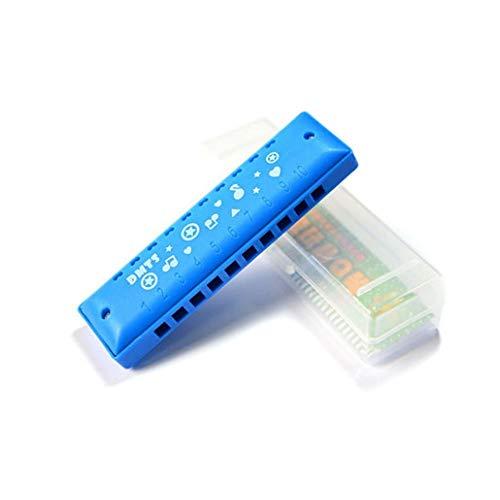 KMDSM Mundharmonika, Cartoon 10-Loch C-Dur Mundharmonika, geeignet als Geschenk for Kinder, stark und widerstandsfähig to Fall (blau / Rosa / Rot / Gelb) ( Color : Blue )