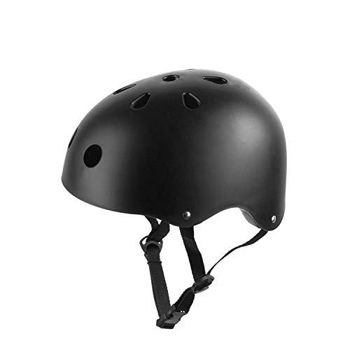 Adult Skateboard Helmet for Roller Skate,Cycling,Longboard,Inline Skating, Helmets with Adjustable Straps,Black (Black, Large: 20.9'-22.8')