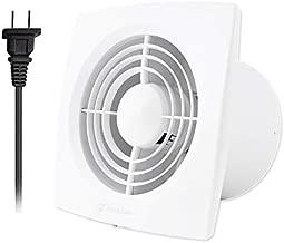 Hon&Guan 6 Inch Home Ventilation Fan Bathroom Garage Exhaust Fan Ceiling and Wall Mount Exhaust Fan for Kitchen / Bathroom , Super Silent , Strong Exhaust (High CFM) 150D