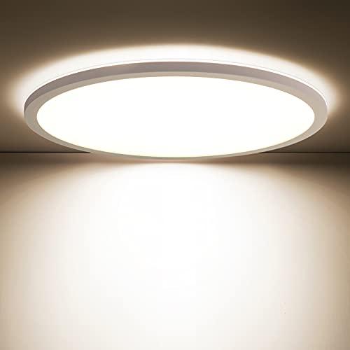 Oraymin LED Deckenleuchte Bad 18W, 1800LM Modern Ultra dünn 2.85cm LED Deckenlampe rund, Flimmerfrei IP44 Wasserdicht Badlampe für Badezimmer Schlafzimmer Wohnzimmer Flur, 4000K Neutralweiß, ø30cm
