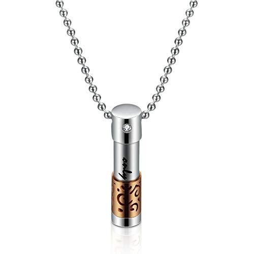 Anhänger Halskette Schmuck Herren Parfüm Flasche Anhänger Halskette Edelstahl Schmuck-Rose_Gold_Color
