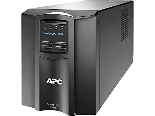 APC Smart-UPS SMT - SMT1500I - Unterbrechungsfreie Stromversorgung 1.500VA (Line Interactive, AVR, LCD Display, 8 Ausgänge IEC-C13, Shutdown Software)