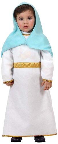 Atosa-12772 Atosa-12772-Disfraz De Virgen niña bebé-talla 0 a 6 meses blanco-Navidad, color (12772)