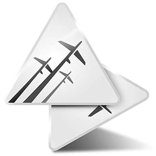 2 x Triangle Stickers 10cm - BW - Modern Plane Logo Airplane Pilot Laptop Tablet Luggage Scrapbook #36396